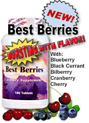 Hillestad Best Berries Nutritional Supplement